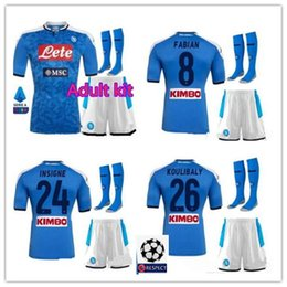 Wholesale Adult kit napoli soccer jersey home Naples ZIELINSKI HAMSIK INSIGNE MERTENS CALLEJON PLAYER ROG football shirts