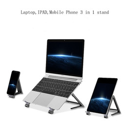 apple laptop mini UK - Mini Small Portable Height Adjustable Folding Stand Bracket Anti-Skid For Laptop IPAD