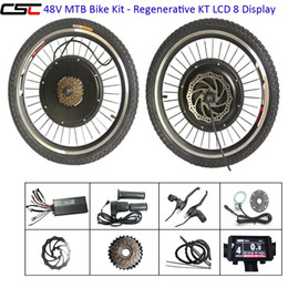 ElEctric convErsion kit bicyclEs online shopping - 700C V W Electric e Bike Conversion Kit Bicycle Ebike LCD display with USB Port and bluetooth function for Front Rear Hub Motor Kit