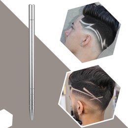 shaved hair styles NZ - (10pack lot) 1Pcs Hairstyle Engraved Pen+10Pcs Blades Professional Hair Trimmers Hair Styling Eyebrows Shaving Salon Hairstyle