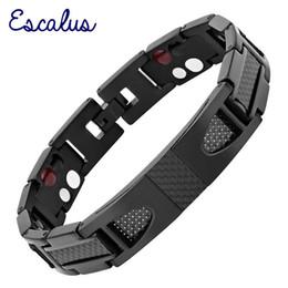 $enCountryForm.capitalKeyWord Australia - Escalus Magnetic Pure Titanium Black Bracelet For Men Carbon Fiber Stylist Germanium Charm New Bracelets Wristband Y19051002