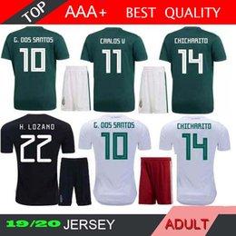 ef7c690248ca4 2018 Mexico 2019 America cup Adult Kits Soccer Jerseys Uniform Men World  Cup G.Dos Santos CHICHARITO O.PERALTA H.LOZANO football shirts