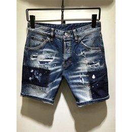 $enCountryForm.capitalKeyWord Australia - Hot Summer Skinny Denim Shorts Men Stretch Slim Fit Short Jeans Mens Designer Cotton Casual Distressed Shorts Hip Hop