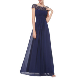 $enCountryForm.capitalKeyWord UK - Party Elegant Dress Women Floral Formal Lace Vintage Short Sleeve High waist Slim Wedding Maxi Dress Women Clothes 2019