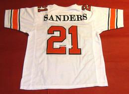 bcac8d78cf7c Cheap retro  21 BARRY SANDERS CUSTOM OKLAHOMA STATE W JERSEY OSU HEISMAN  white Mens Stitching College Size S-5XL Football jerseys Ncaa