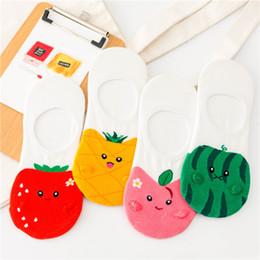 $enCountryForm.capitalKeyWord Australia - Korean Fashion summer Fresh Fruits Socks Women Cute cartoon Pineapple strawberry apple watermelon patterned invisible socks