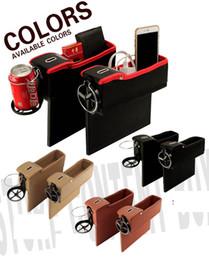 $enCountryForm.capitalKeyWord Australia - 2pcs Leather Car Seat Storage Box Cup Drink Holder Organizer Pocket +Passenger