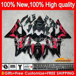 Wholesale Body For YAMAHA YZF600 YZF R6 YZF-R6 Red Graffiti 2008 2016 68HC.180 YZF 600 R 6 CC 600CC YZF-600 YZFR6 08 09 10 11 12 13 14 15 16 Fairings