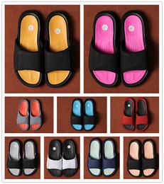 Discount unisex wood slippers - 2019 New Release Hydro 6 BG Men Women Rubber Sandals White Red Pink Black summer Mens Designer Slipper Jumpman Scuffs wi