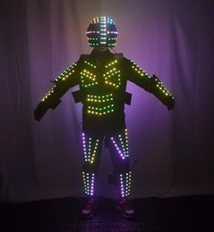 $enCountryForm.capitalKeyWord Australia - Colorful Led Luminous Robot Dance Suit Illuminated Growing Light Up Ballroom Halloween Costume Grand Event Party Led Clothes