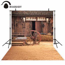 $enCountryForm.capitalKeyWord Australia - Studio Backgrounds Allenjoy background wooden barn wheel cowboy straw vintage photographic background for photo studio photocall vinyl ...