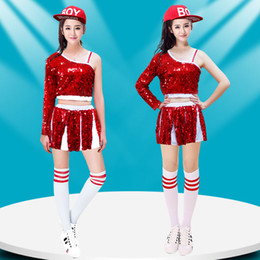 Koreans females suit online shopping - New High Quality Costume Jazz Dance Costume Female Korean Sequins Modern Dance Sexy Performance Clothing Hip Hop Suit