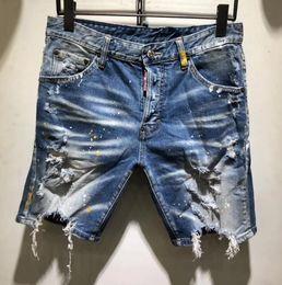 $enCountryForm.capitalKeyWord Australia - d2 jeans Fashion Summer New Style D2 Denim Jean Mens Motorcycle Streetwear Holes Denim Shorts Pants Holes Button Short Men Slim Shorts Jean