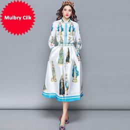 $enCountryForm.capitalKeyWord Australia - Spring Fashion Designer Skirt Two Pieces Set Women's Long Sleeve Printed Blouses + Casual Skirts Set Suit