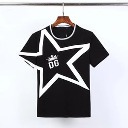 Wholesale engineering t shirt for sale – custom 20 summer men s engineer T shirt black white five pointed star men s fashion youth T shirt top short sleeve M XL