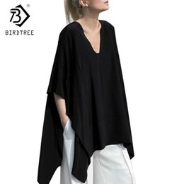 $enCountryForm.capitalKeyWord Australia - 2017 Womens Shirts Sexy Oversized Asymmetric Poncho Cape Casual Top For Women Batwing Sleeves Irregular Loose T-Shirts