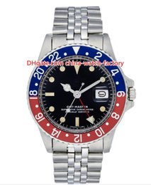 Discount movado watches - Hot Items High Quality Watch Top Factory 40mm GMT Vintage 1675 Red Blue Pepsi Bezel Asia 2813 Movement Mechanical Automa