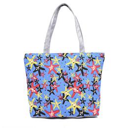 Cheap Handbag Bags Tote Canada - Cheap Fashion LKEEP Lovely Starfish Canvas Handbag Preppy School Bag For Girls Women's Handbags Cute Bags Casual Totes