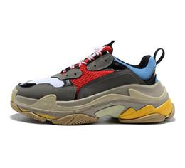 $enCountryForm.capitalKeyWord NZ - Men's and women's leisure quality Fashion Cheap Sale Sneaker Triple S Casual Dad Shoes for Men's Women Beige Black Sports Tennis Shoes 36-45