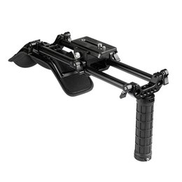 15mm rod camera Australia - CAMVATE Shoulder Mount Kit With 15mm Rod System & Manfrotto QR Plate For DSLR Video Cameras And DV Camcorders C2105