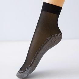 aa4929b5876 1 pair Summer Autumn Bamboo Sports Yoga Socks Women Thin Crystal  Transparent Silk Socks Girl Ankle Sox Sexy Design Sport