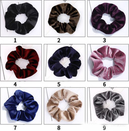 elastic hair combs Australia - new36 colors Solid Lady Hair Scrunchies Ring Elastic Hair Bands Pure Color Bobble Sports Dance Soft Charming Hair Accessories