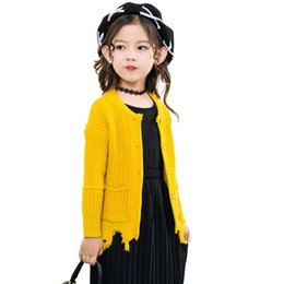 Sweater For Children S UK - Casual Kids Clothes Sweater For Girls Autumn Winter Girls Sweater Long Sleeve Knitting Sweater Coats Clothing Children Cardigan