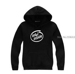 Intel s online shopping - autumn and winter intel inside sweatshirt hooded fleece cotton coats fashion jacket