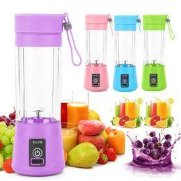 Portátil USB Fruta Elétrica Juicer Handheld vegetal suco maker liquidificador recarregável mini suco fazendo copo com carregamento CabledHd610 em Promoção
