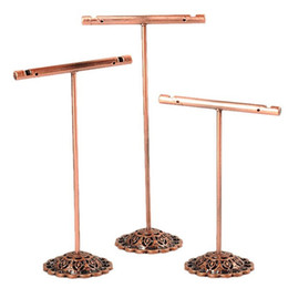 $enCountryForm.capitalKeyWord Australia - Fashion 3Pcs Set Portable Earring Jewelry Display Rack Metal Earring Stud Necklace Organizer Ornament T Bar Hanger Showcase Holder Stand
