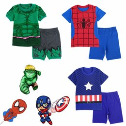 China Kid Boy Costume Pajamas Child Superhero Sleepwear Pyjamas Cosplay Children Summer Pijamas Hulk Set cheap pijamas costume suppliers