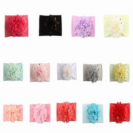 Big Hair Bands For Babies Australia - Baby Girls Headbands Big Chiffon Flower Super Soft Elastic Hair Bands Hair Wraps Turban for Infant Newborn and Toddlers