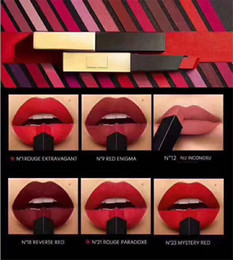 China Famous brand The Slim Rouge Leather Matte Lipstick Colors number N1 N9 N12 N18 N21 N23 N5 suppliers