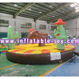 amusement games Australia - 5m round amusement ride inflatable rodeo game for kids and adult, cheap inflatable human animal ride game