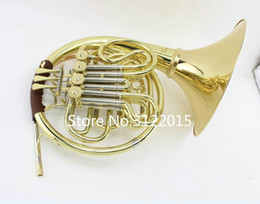 $enCountryForm.capitalKeyWord Australia - Free Shipping MARGEWATE New Arrival Brass Wind Instrument Gold Lacquer Double-Row 4 Key Slit French Horn FB Key b   f Tone With Mouthpiece
