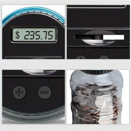 money box best Canada - LCD Display Money Box Electronic Digital Counting Coin Bank Money Saving Box Jar Counter Bank Box Best Gift