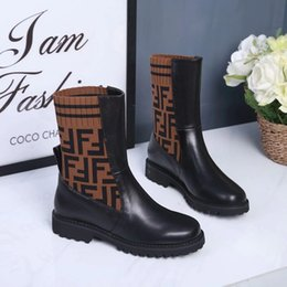 cc55be5b65d9 (With box )Designer Brand Woman New Ankle boots fashion Flat shoes wool  sock stretch boots stars lady winter high quality shoes 03 66
