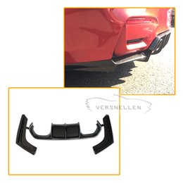 $enCountryForm.capitalKeyWord Australia - Brand New F80 M3 F82 M4 V Styling 3pcs Carbon Fiber Rear Bumper Lip Diffuser For BMW F80 M3 F82 M4 2014 UP