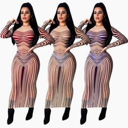 $enCountryForm.capitalKeyWord NZ - womens one piece dress long sleeve winter skirt designer Ankle-length high quality skinny dress sexy elegant luxury gauze clubwear klw0101