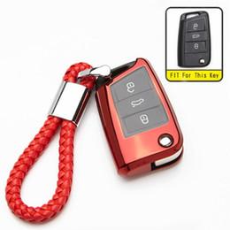 $enCountryForm.capitalKeyWord Australia - TPU Car Key Case Holder For Octavia A5 A7 Superb Rapid Fabia 2 3 Keychain For VW Golf Passat Key Cover Seat Ibiza Leon