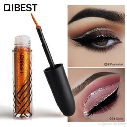 Gel Eyes Liner Australia - Liquid Glitter Eyeliner Professional gel Eyeliner Waterproof Makeup set Colorful Eye liner pencil Cosmetic E18007