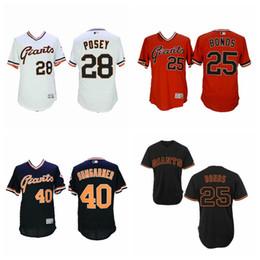 c638b3dd718 Men s Barry Bonds Jersey Giants Buster Posey Brandon Crawford Madison  Bumgarner Willie McCovey White Black Orange Baseball Jerseys