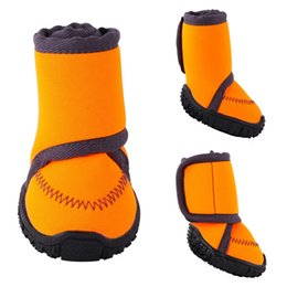 socks slip soles 2019 - Waterproof Dog Shoes Fluorescent Orange Dog Boots Adjustable Straps and Rugged Anti-Slip Sole Paw Protectors Suitable fo