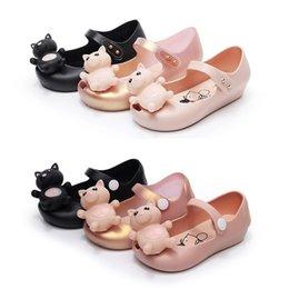 Kids Gold Sandals Australia - New Kids Girls Casual Princess Jelly Shoes Toddler Summer Beach Flats Sandals