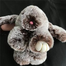 $enCountryForm.capitalKeyWord Australia - Magicfur - Real Rex Rabbit Fur Cute Bunny Toy Keychain Coffee Frost Doll Pom Ball Bag Bug Charm Keyring Pendan AccessoriesSH190724