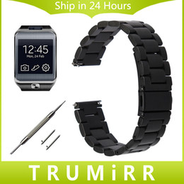 Golds Gear Australia - 22mm Stainless Steel Watch Band Quick Release Strap for Samsung Gear 2 R380 Neo R381 Live R382 Wirst Bracelet Black Gold Silver
