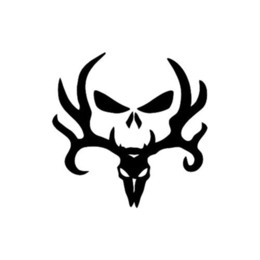 gun stickers UK - 15*15cm Deer Buck Decal Vinyl Sticker Car Skull Wall Logo Hunting Gun Shot Hunter Bone Cool Graphics Vinyl Sticker