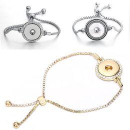 $enCountryForm.capitalKeyWord Australia - Creative Alloy Snake Chain 18MM Noosa Button Bracelet For Women Interchangeable Jewelry Ginger Snaps Jewelry Button Bracelet Bracelet M46Q