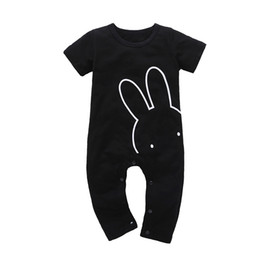 $enCountryForm.capitalKeyWord NZ - 2019 New Fashion Baby Clothes Black Cool Baby Rompers Newborn Baby Girl Clothing Set Toddler Suit Short Sleeve Outfits