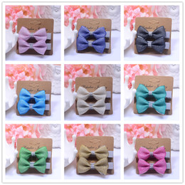 Knot Pack Australia - 2PCS  Pack Children Mini Bow knot Hair Clips grips accessories Headwear Solid Kids Hairpins Barrettes BB Clip Little Girls Gifts